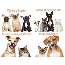 Friendly Pets Laser Assortment Postcards