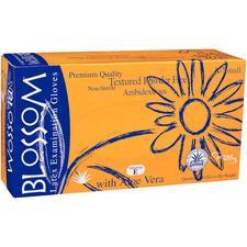 Blossom® Latex Exam Gloves with Aloe Vera and Vitamin E – Powder Free, 100/Box