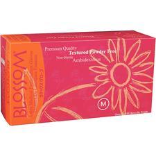 Blossom® Latex Exam Gloves – Powder Free, Textured, 100/Box