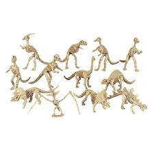 """Plastic Dinosaur Skeletons, 5-1/2"""", 12/Pkg"""