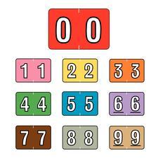 "Sycom® and Barkley® Compatible Numeric Label, 1-1/2"" W x 1"" H, 500/Roll"