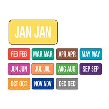 Jewel Tone™ Monthly Aging Labels