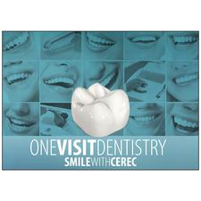CEREC Blue One Visit Personalized Postcard, 6