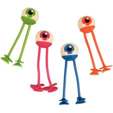 "Eyeball Bendables with Suction Feet, Assorted Colors, 4"", 24/Pkg"