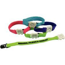 Tooth Buckle Bracelet, Assorted Colors, 48/pkg