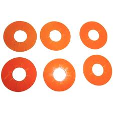 The Cure Eye Shields – Orange, 8 mm, 6/Pkg