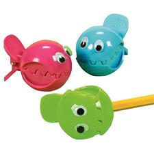 "Wiggle Eye Fish Pencil Sharpeners, Assorted Colors,  2-1/4"", 12/Pkg"