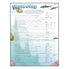 "Patient Information, Sea Life ColorForms™, 8-1/2"" W x 11"" H, 100/Pkg"