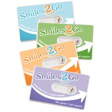 "Smiles to Go Floss Mirror in Assorted Colors, Personalized, 3-1/2"" W x 2-1/2"" H, 288/Pkg"