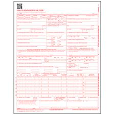 "CMS-1500 (02/12) Claim Forms, Single Sheet Bond/Laser Compatible, Nonpersonalized, Nonpadded, 8-1/2"" W x 11"" H, 500/Pkg"