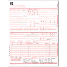 "CMS-1500 (02/12) Claim Forms, 2-Part Carbonless Sets, Personalized, 8-1/2"" W x 11"" H, 500/Pkg"