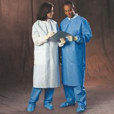 BASIC Plus Lab Coats – Blue, 25/Pkg