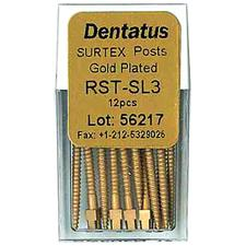 SURTEX™ Surface Treated Gold-Plated Post Refill – Super Long, Length 17 mm, 12/Pkg