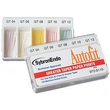 Autofit® Greater Taper Paper Points, 100/Pkg