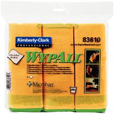 Wypall Microfiber Cloths With Microban Protection, 15-3/4