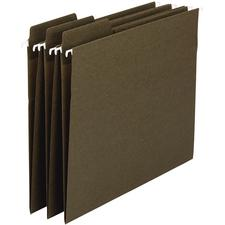 Smead 100% Recycled FasTab® Hanging Folders, 1/3 Cut Tabs, Green, 20/Box