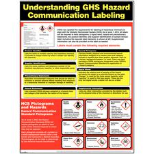 "OSHA Labeling System Poster, 18"" W x 24"" H"