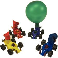 Race Car Balloon Racers, Assorted Colors, 2-2/4