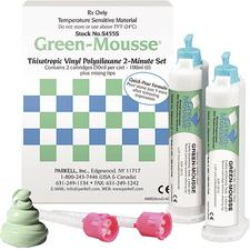 Green-Mousse® Classic VPS Bite Registration Material – Refill, Split Cartridge, 2/Pkg