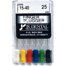 Finger Pluggers – ISO Color-Coded Plastic Handle, 25 mm, 6/Pkg