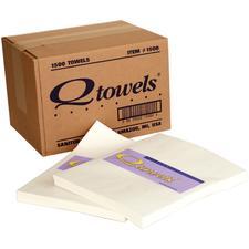 Qtowels® Paper Hand Towels, 1500/Pkg