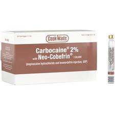 Cook-Waite Carbocaine® 2% Neo-Cobefrin® (mepivacaine and levonordefrin) 1.8 ml Injection Cartridges – 50/Pkg