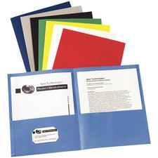 "2-Pocket Folders, 8-1/2"" W x 11"" H, 25/Pkg"
