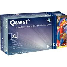 Aurelia® Quest™ White Nitrile Gloves