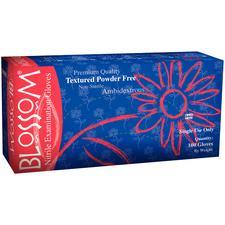 Blossom® Nitrile Exam Gloves – Dark Blue, Powder Free, 100/Box