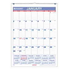 Monthly Vertical Wall Calendars