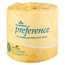 Preference® 2-Ply Embossed Bathroom Tissue – White, 40/Pkg