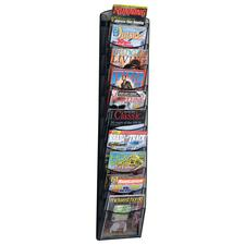 "Mesh Magazine Rack, 10 Pocket, 10-1/4"" W x 50-3/4"" H x 3-3/4"" D"