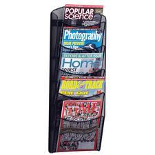 "Mesh Magazine Rack, 5 Pocket, 10-1/4"" W x 28-1/4"" H x 3-3/4"" D"