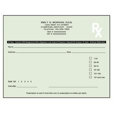 "Kentucky Prescription Blanks, 2 Part, Personalized, 5-1/2"" W x 4-1/4"" H, 50 Sets/Pad; 20 Pads/Pkg"