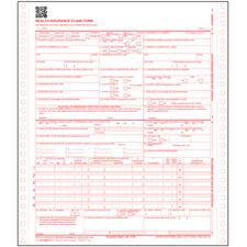 "CMS-1500 (02/12) Claim Forms, 2-Part Continuous, Nonpersonalized, 9-1/2"" W x 11"" H, 500/Pkg"