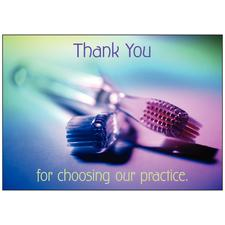 "Thank You 4-Up Laser Postcard, 6"" W x 4-1/4"" H, 100/Pkg"
