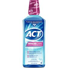 ACT® Braces Care Anticavity Mouthwash, 18 oz Bottle