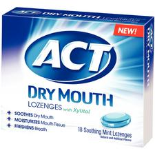 ACT® Dry Mouth Lozenges – 18 Piece Packs, 6/Pkg