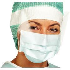 BARRIER® Earloop Surgical Face Masks – ASTM Level 1, Extra Protection with Visor, Anti-Fog, 50/Pkg