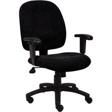 "BOSS Ergonomic Task Chair, 27.5"" W x 37"" - 40"" H x 27"" D"