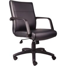 "BOSS Executive LeatherPlus Chair, 27"" W x 38"" - 41.5"" H x 27"" D"