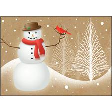 Designer's Choice Holiday 4-Up Laser Postcard, 100/Pkg