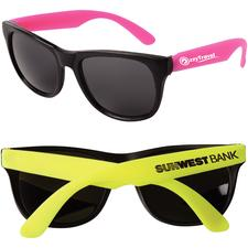 "Neon Sunglasses, Personalized, 5-3/4"" W x 2"" H x 5-1/2"" D, 144/Pkg"