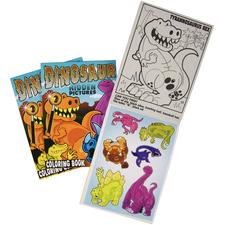 Dinosaur Hidden Picture Find Coloring Books With Stickers, 12 Coloring Pages, 2 Pages of Stickers, 5