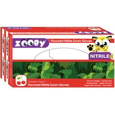 Zooby® Flavored Nitrile Exam Gloves, 100/Pkg
