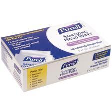 "Purell® Sanitizing Hand Wipes, 5"" W x 7"" H, 100/Box"