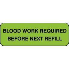 "Medication Instruction Label, 1-1/2"" W x 1/2"" H, 500/Roll"