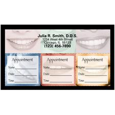 "Multi-Sticker Appointment Card, 3-1/2"" W x 2"" H, 500/Pkg"