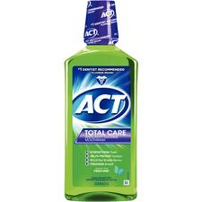 ACT® Total Care Anticavity Fluoride Rinse – 33.8 oz Bottle, Fresh Mint, Each