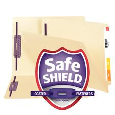 "Smead® 14-Pt Double Ply End-Tab File Folder with SafeSHIELD™ Coated Fasteners, Positions 1 and 3, 9-1/2"" x 12-1/4"", 50/Box"